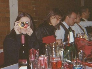 Disposable camera on each table